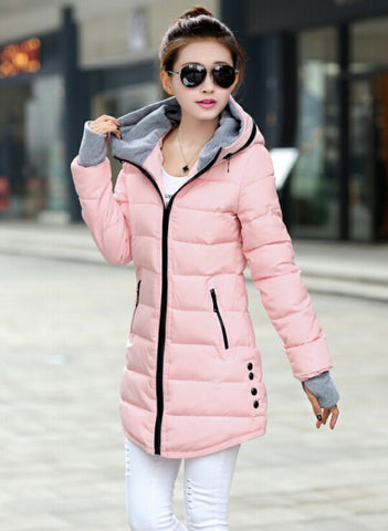 Women's Winter Jacket 2016 New Medium-long Down Cotton Female Parkas Plus Size Winter Coat Women Slim Ladies Jackets And Coats - Dollar Bargains - 3