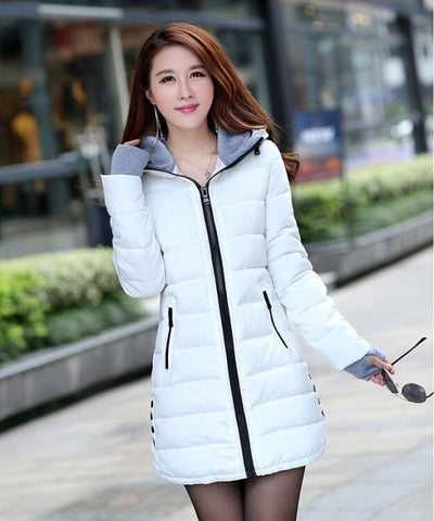Women's Winter Jacket 2016 New Medium-long Down Cotton Female Parkas Plus Size Winter Coat Women Slim Ladies Jackets And Coats - Dollar Bargains - 4