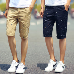 New brand mens shorts print casual Men's shorts fashion cotton shorts homme shorts khaki white green-Dollar Bargains Online Shopping Australia