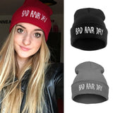 Beanie Bad Hair Day Beanie Cap Women Cotton Blend Letter Printed Knitted Winter beanies Hiphop Hats Caps cheap RD671503-Dollar Bargains Online Shopping Australia