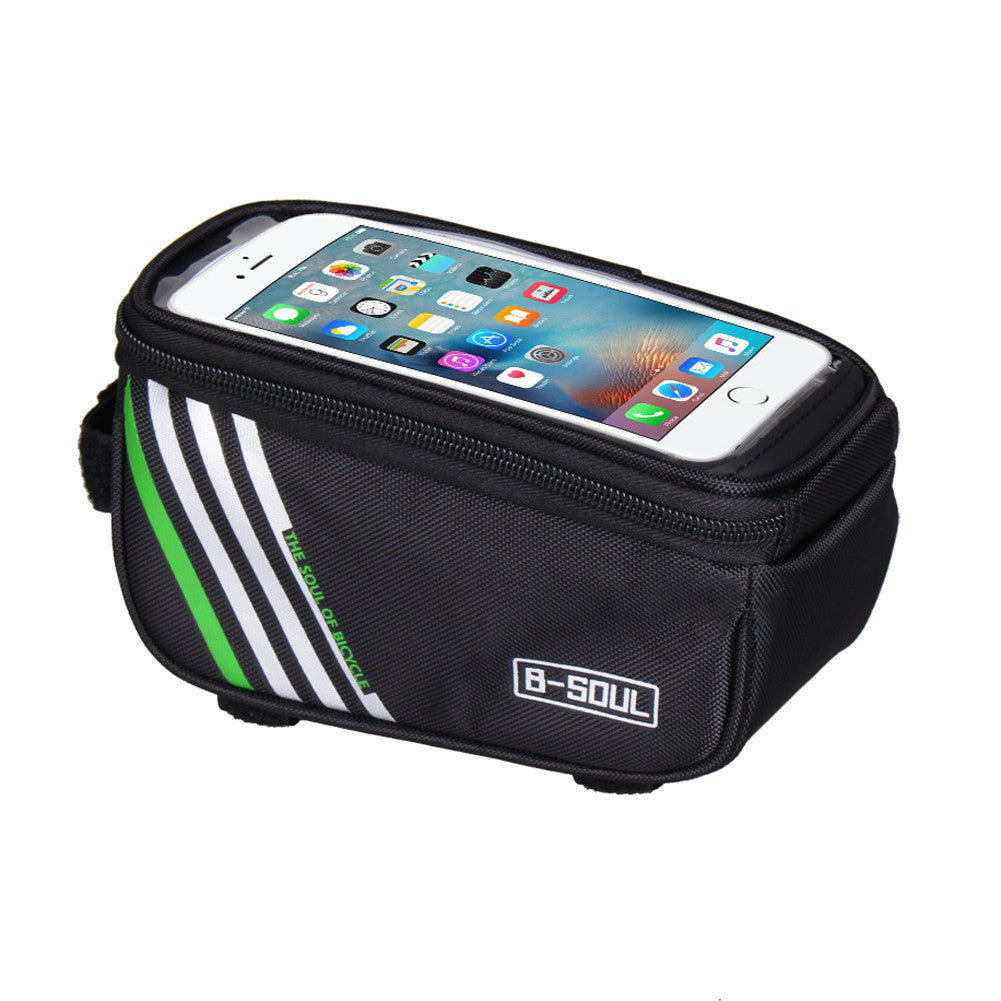 BlackNew Multifuction 1.5L Waterproof Bicycle Bags Cycling Bike Frame Front Tube Mobile Phone Bag For Mountain bike City Bike EA14