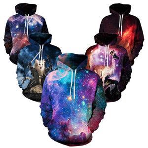 YNM purple galaxy Nebula/thundercat/llama Hoodie all over print hoody sweatshirts men women warm clothing coat hooded outerwear - Dollar Bargains - 1