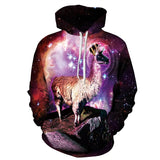 YNM purple galaxy Nebula/thundercat/llama Hoodie all over print hoody sweatshirts men women warm clothing coat hooded outerwear-Dollar Bargains Online Shopping Australia