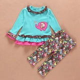 baby girl floral clothes set newborn toddler cotton suit kids girl outfits spring tracksuit infant clothing set for girls - Dollar Bargains - 2