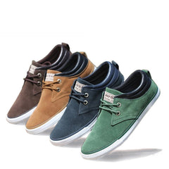 New Top Fashion brand men Flat Shoes Canvas men's flats shoes men,Daily casual shoes Spring Autumn suede men shoes LS083-Dollar Bargains Online Shopping Australia