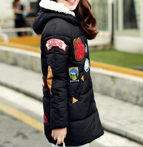 New 2016  winter jacket women Long Casual Fashion Women Parka Female Hooded Coat Brand Parka Plus Size Cold Warm outwear W003 - Dollar Bargains - 4