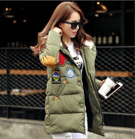 New 2016  winter jacket women Long Casual Fashion Women Parka Female Hooded Coat Brand Parka Plus Size Cold Warm outwear W003 - Dollar Bargains - 7