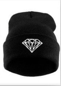 Brand New Gorros Fashion Beanie Men Casual Winter Hat Warm Diamond Knitted Hats For Women Hip Hop Skullies Beanies Toca-Dollar Bargains Online Shopping Australia