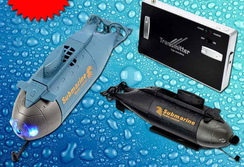 Mini Submarine Radio Remote Control RC RTR Three Propeller Motor 6CH Electric Gift-Dollar Bargains Online Shopping Australia
