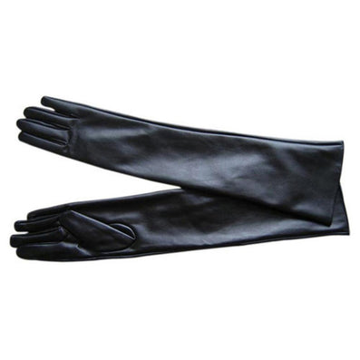 Women's Faux Leather Elbow Gloves Winter Long Gloves Warm Lined Finger Gloves New-Dollar Bargains Online Shopping Australia