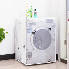 Transparent Waterproof Cover Washing Machine Family Expenses Automatic Turbine Roller Anti-dust Cover Washing Machine Sets-Dollar Bargains Online Shopping Australia