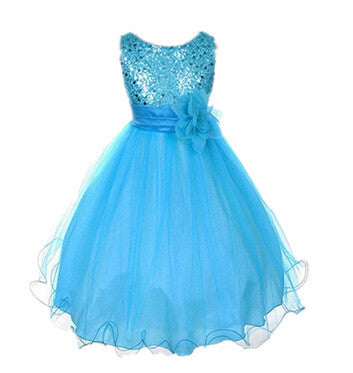 New Arrival Flower Girls Dress Summer Princess Wedding Party Kids Costume Baby Girls Clothes High Quality Children Clothing-Dollar Bargains Online Shopping Australia