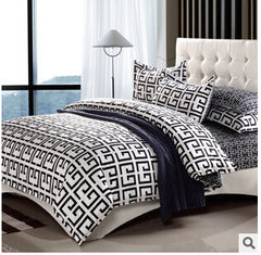 Home Textiles cotton Polyester Black&white Plaid 4pcs bedding sets bed linen bed sheet + duvet cover +Pillowcase, Freeshipping-Dollar Bargains Online Shopping Australia