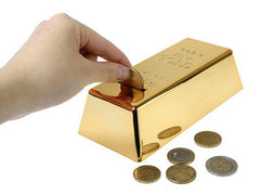 999.9 Gold Bullion Bar Piggy Bank Brick Coin Bank Saving Money Box-Dollar Bargains Online Shopping Australia