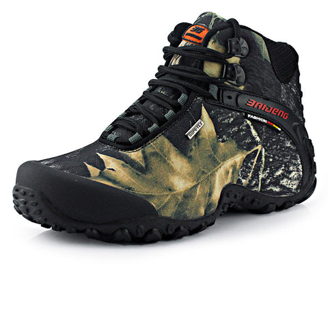 New waterproof canvas hiking shoes boots Anti-skid Wear resistant breathable fishing shoes climbing high shoes-Dollar Bargains Online Shopping Australia