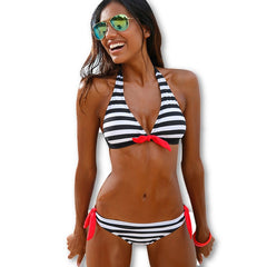 Sexy Bikinis Women Swimsuit Swimwear Halter Top Plaid Brazillian Bikini Set Bathing Suit Summer Beach Wear Biquini-Dollar Bargains Online Shopping Australia