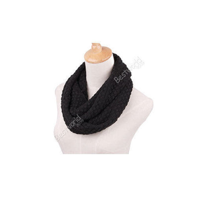 Fashion Women Winter Warm Knitted Neck Circle Wool Cowl Snood Long Scarf Shawl Autum Scarfs Women a2H-Dollar Bargains Online Shopping Australia