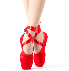 High quality ladies professional ballet pointe dance shoes with ribbons shoes woman zapatos de baile sneakers-Dollar Bargains Online Shopping Australia