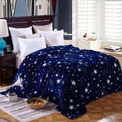 Bright star blue pattern blankets on the bed King Queen Full Twin size throws bedclothes-Dollar Bargains Online Shopping Australia