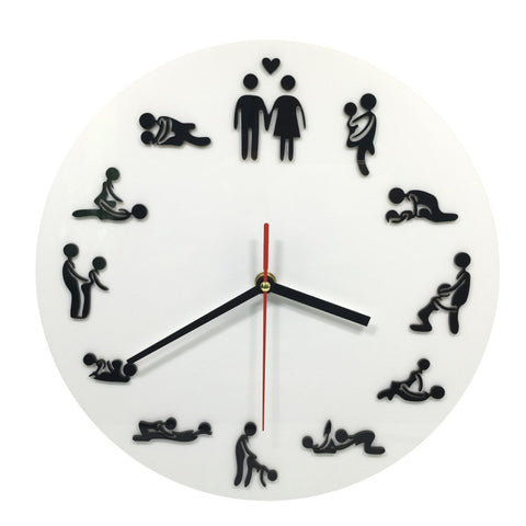 Free Shipping 1Piece Kama Sutra Sex Position Clock / 24Hours Sex Clock / Novelty Wall Clock - Dollar Bargains