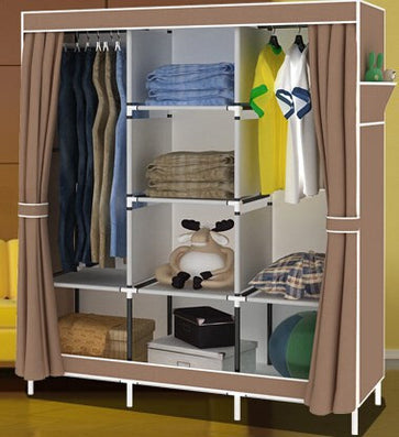 Wardrobe Closet Large And Medium-sized, Wardrobe Cabinets Simple Folding Reinforcement Receive Stowed Clothes Store Content Ark-Dollar Bargains Online Shopping Australia