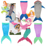 Mermaid Blanket Towel Envelopes For 5-12T Kids Soft Animal Sleeping Bag Pajamas Overalls Children Quilt Velvet Shark Blanket-Dollar Bargains Online Shopping Australia