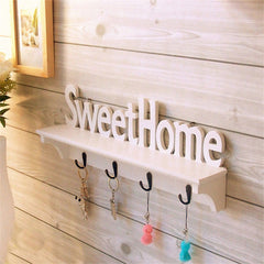 "1Pcs ""Sweet Home"" Shelves Hat Key Holders Storage Shelf hanging hooks Wall Mounted Rack Home Holder Storage Hanger Decoration-Dollar Bargains Online Shopping Australia"