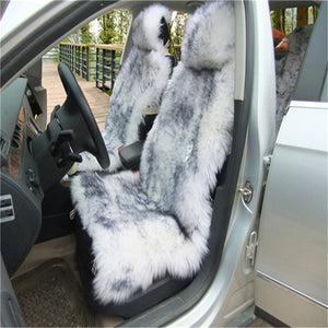 Deluxe Winter Plush Australian Sheepskin Car Seat Cover for One Front Seat Fur Auto Car Cushion Universal Car Cape-Dollar Bargains Online Shopping Australia