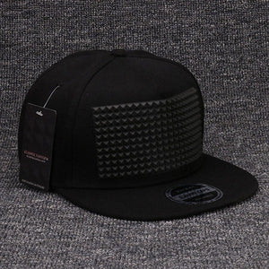 Fancy 3D snapback cap raised soft silicon square pyramid flat baseball hip hop hat for boys and girls-Dollar Bargains Online Shopping Australia