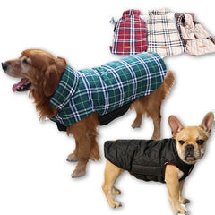 Waterproof Reversible Dog Jacket Designer Warm Plaid Winter Dog Coats Pet Clothes Elastic Small to Large Dog Clothes Winter-Dollar Bargains Online Shopping Australia