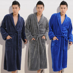 Winter Autumn thick flannel men's women's Bath Robes gentlemen's homewear male sleepwear lounges pajamas pyjamas-Dollar Bargains Online Shopping Australia