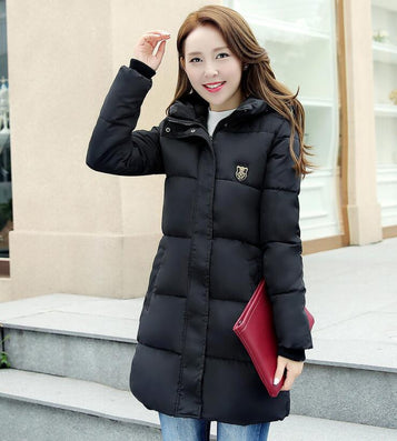 2016 New Fashion Long Winter Jacket Women Slim Female Coat Thicken Parka Down Cotton Clothing Red Clothing Hooded Student - Dollar Bargains - 8