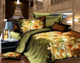 4pcs 3d bed set bedding sets High quality pillowcase reactive printed bedclothes queen size bed linen-Dollar Bargains Online Shopping Australia