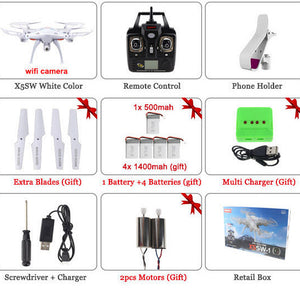 SYMA X5SW / X5SW-1 WIFI RC Drone Quadcopter with FPV Camera Headless 6-Axis Real Time RC Helicopter Quad copter Toys - Dollar Bargains - 2