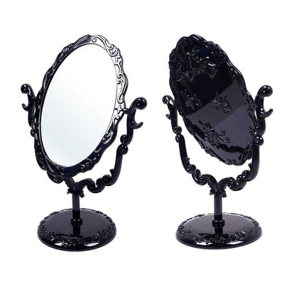 Makeup Desktop Rotatable Gothic Small Size Rose Stand Compact Mirror Black Butterfly espelho DTZE #57700-Dollar Bargains Online Shopping Australia