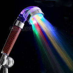 7 Colors Change Led shower Tourmaline SPA Anion Hand Held Bathroom Led Shower Head Filter Hand Shower Saving Water-Dollar Bargains Online Shopping Australia