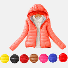 Women Winter Jacket New Female Coat Ultra Light Down Coats Woman's Hooded Short Jackets Plus Size Parkas B998-Dollar Bargains Online Shopping Australia