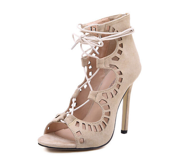 b9669d6909 Women Pumps Sexy Pointed Toe High Heels Lace up Heels Pumps Women Shoes  Wedding Shoes