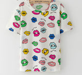 Fashion Vintage Summer Style Harajuku T Shirt Women Clothes Tops Emoji Funny Tee Shirts Ice Cream Print-Dollar Bargains Online Shopping Australia
