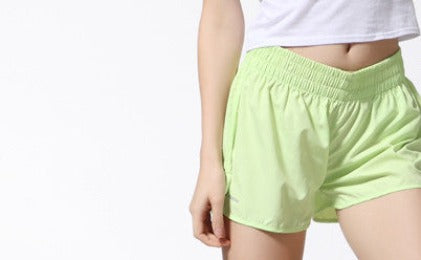 APPLE GREEN / LAll-purpose Summer shorts for womens thin Quick-Drying Elastic Waist Candy Colors plus size shorts