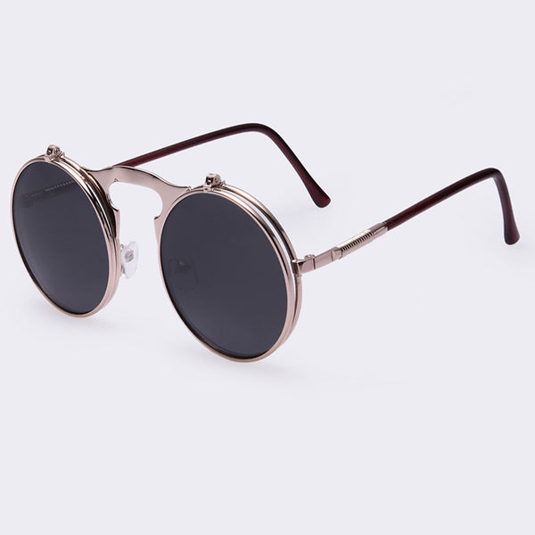 d4d6bfa0b92d VINTAGE STEAMPUNK Sunglasses round Designer steam punk Metal women COATING  SUNGLASSES Men Retro CIRCLE SUN GLASSES