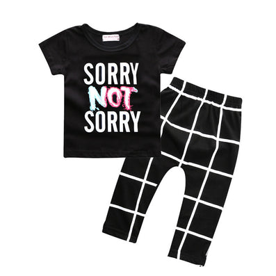 Baby boys t-shirt + long pants 2Pieces baby clothes children tracksuit summer baby girls clothing set roupa infantil menina-Dollar Bargains Online Shopping Australia