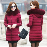 Womens Winter Jackets And Coats Thick Warm Hooded Down Cotton Padded Parkas For Women's Winter Jacket Female Manteau Femme-Dollar Bargains Online Shopping Australia