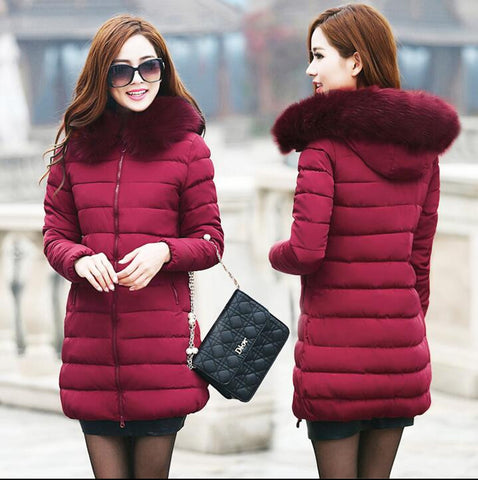 Womens Winter Jackets And Coats 2016 Thick Warm Hooded Down Cotton Padded Parkas For Women's Winter Jacket Female Manteau Femme - Dollar Bargains - 5
