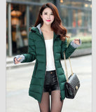 Women's Jacket Winter New Medium-Long Down Cotton Parka Plus Size Coat Slim Ladies Casual Clothing-Dollar Bargains Online Shopping Australia