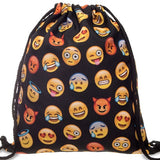 2016 new fashion Women Emoji Backpack 3D printing travel softback  women mochila drawstring bag mens backpacks - Dollar Bargains - 24