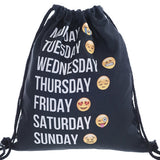 2016 new fashion Women Emoji Backpack 3D printing travel softback  women mochila drawstring bag mens backpacks - Dollar Bargains - 17