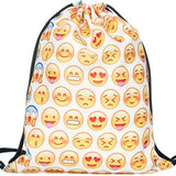 2016 new fashion Women Emoji Backpack 3D printing travel softback  women mochila drawstring bag mens backpacks - Dollar Bargains - 11