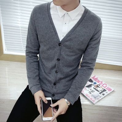 New 206 Button wool cashmere sweater male outerwear cardigan autumn man imported sweater cardigan M-5xl Plus-Dollar Bargains Online Shopping Australia