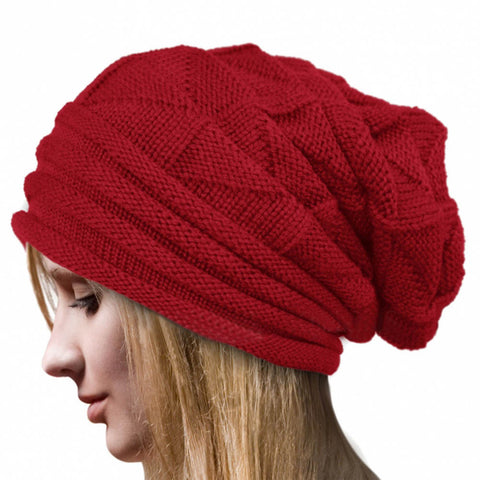 Fashion Bonnet Femme Women Winter Hat Female Winter Beanie Crochet Hat Knit Warm Women Caps - Dollar Bargains - 5